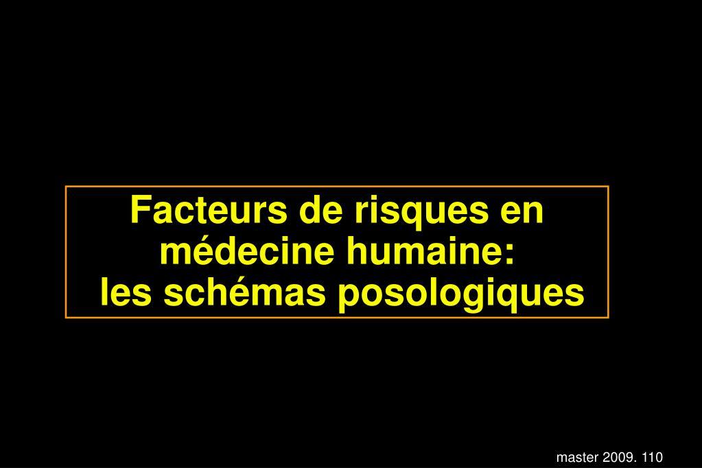 Facteurs de risques en médecine humaine:
