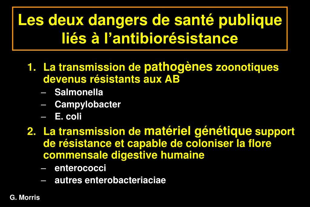 Les deux dangers de santé publique liés à l'antibiorésistance