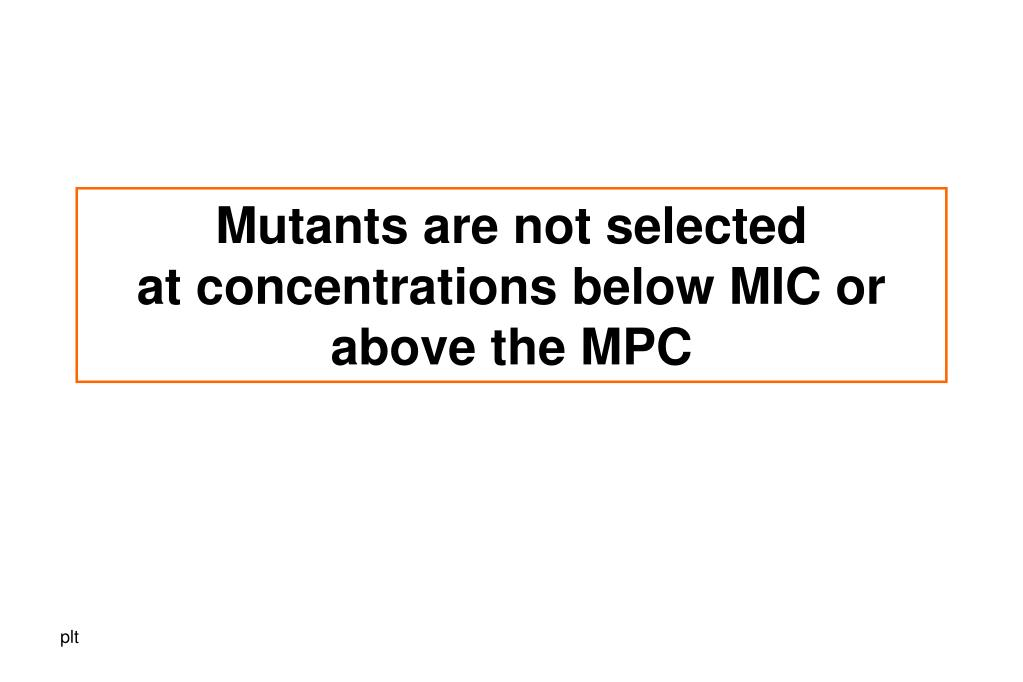 Mutants are not selected