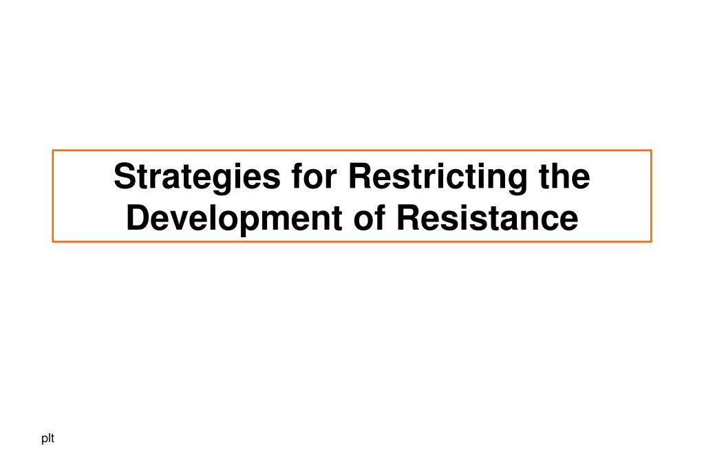Strategies for Restricting the