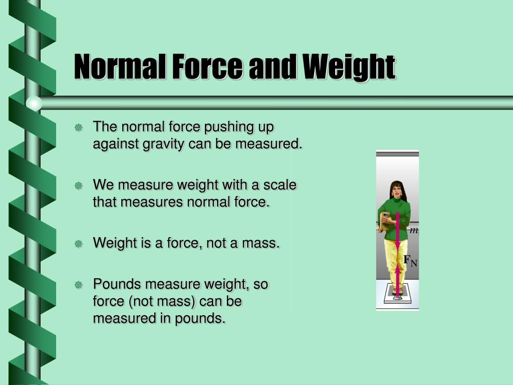 Normal Force and Weight
