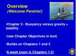 overview welcome parents