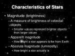 characteristics of stars4