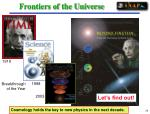 frontiers of the universe26