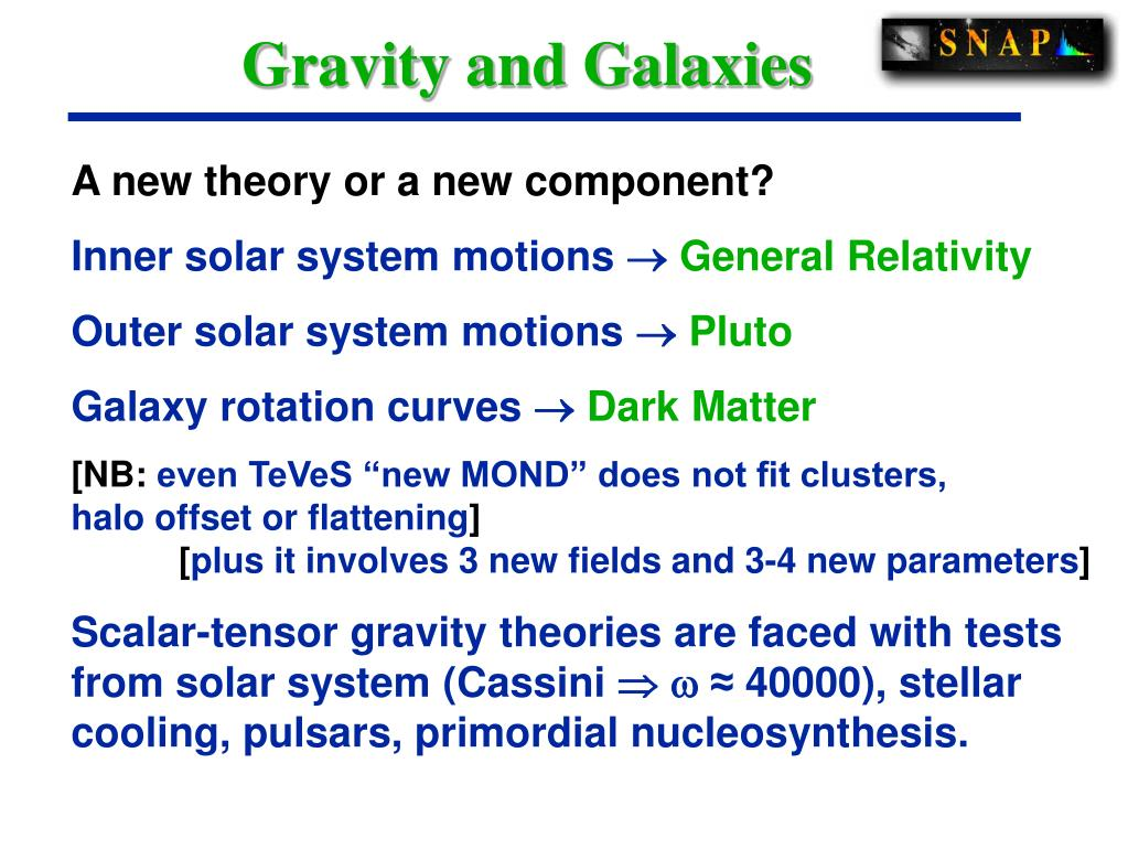 Gravity and Galaxies