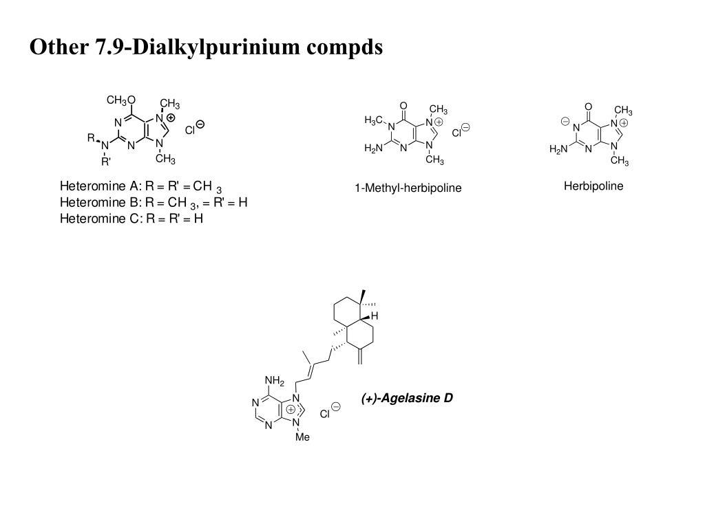 Other 7.9-Dialkylpurinium compds