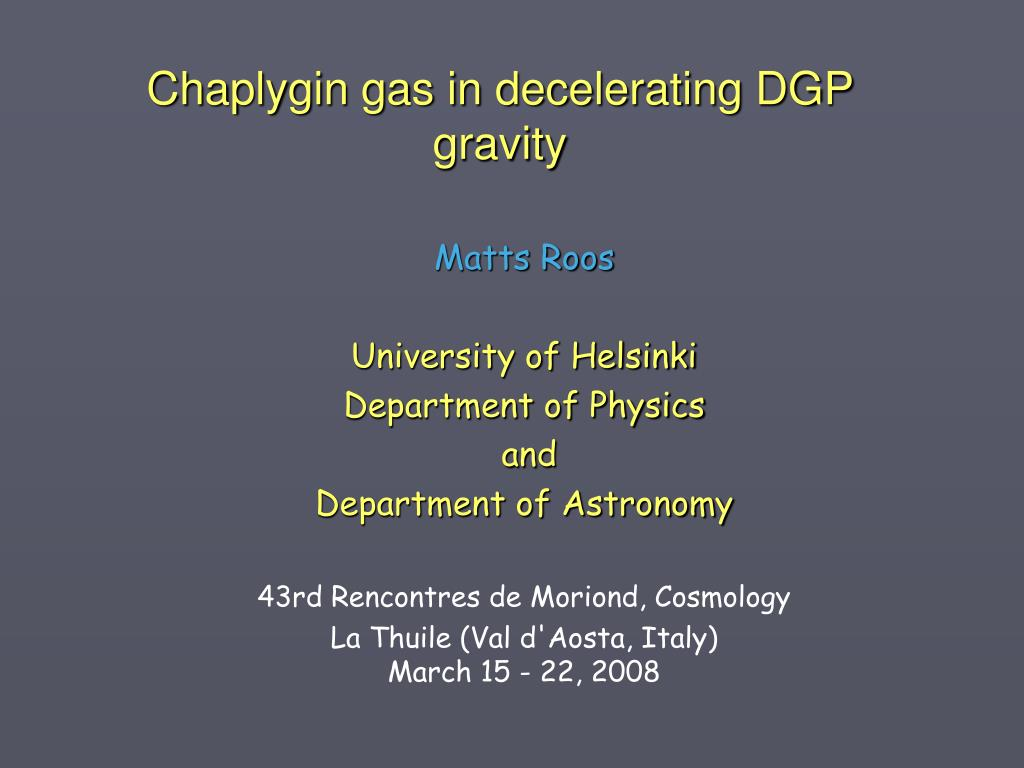 chaplygin gas in decelerating dgp gravity l.