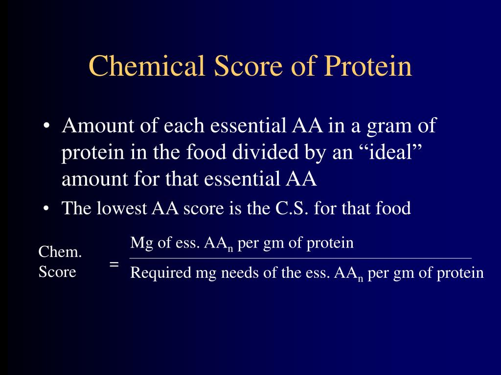 Chemical Score of Protein