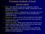 common methods of food preservation