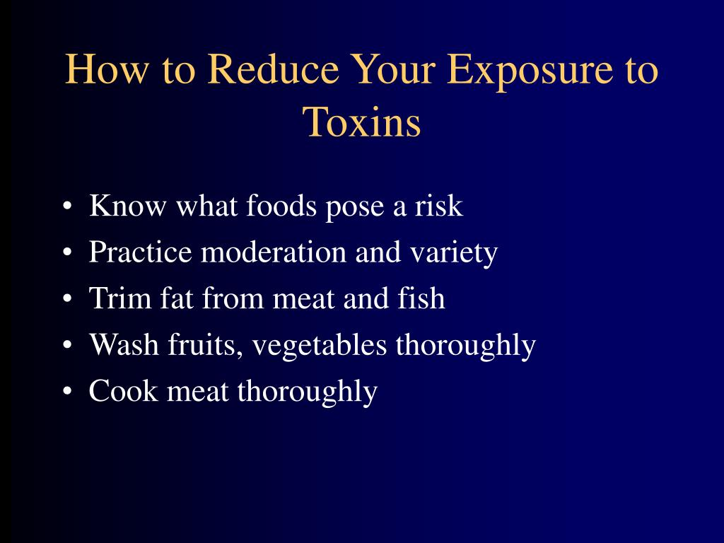 How to Reduce Your Exposure to Toxins