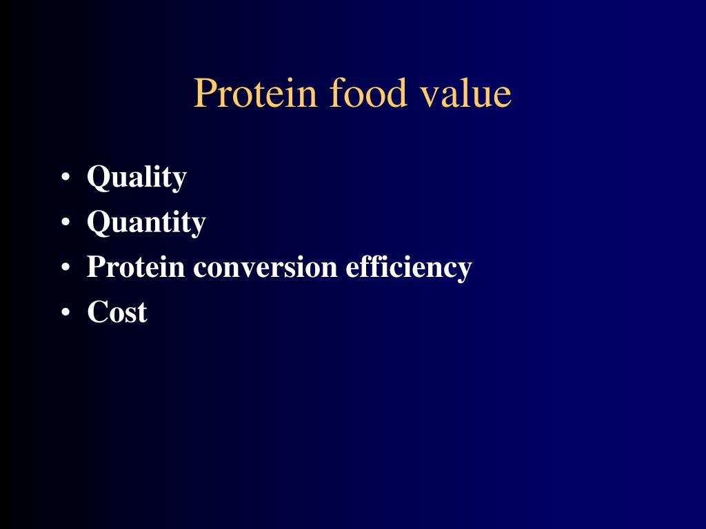 Protein food value