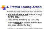 3 protein sparing action