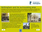 nottingham and its surrounding area