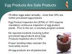 egg products are safe products
