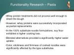 functionality research pasta19