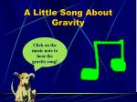 a little song about gravity
