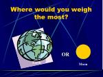 where would you weigh the most