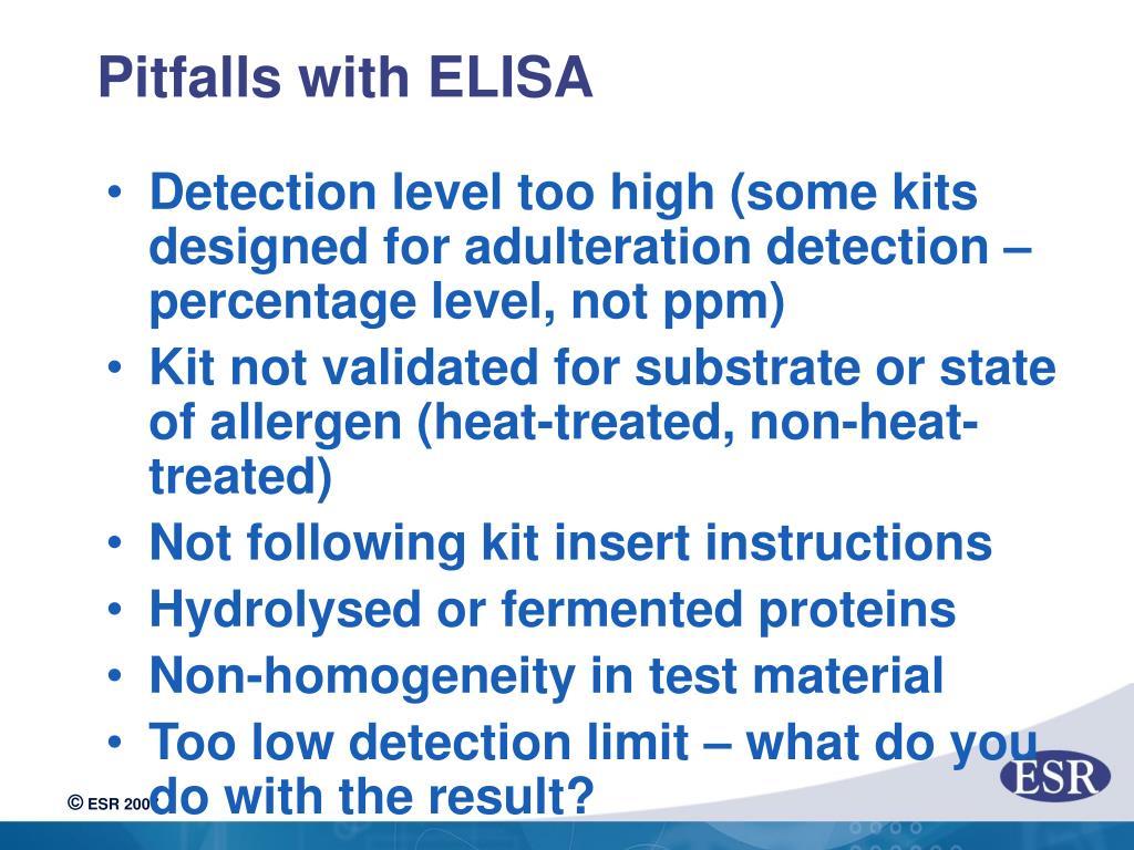 Pitfalls with ELISA