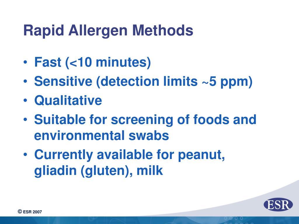 Rapid Allergen Methods