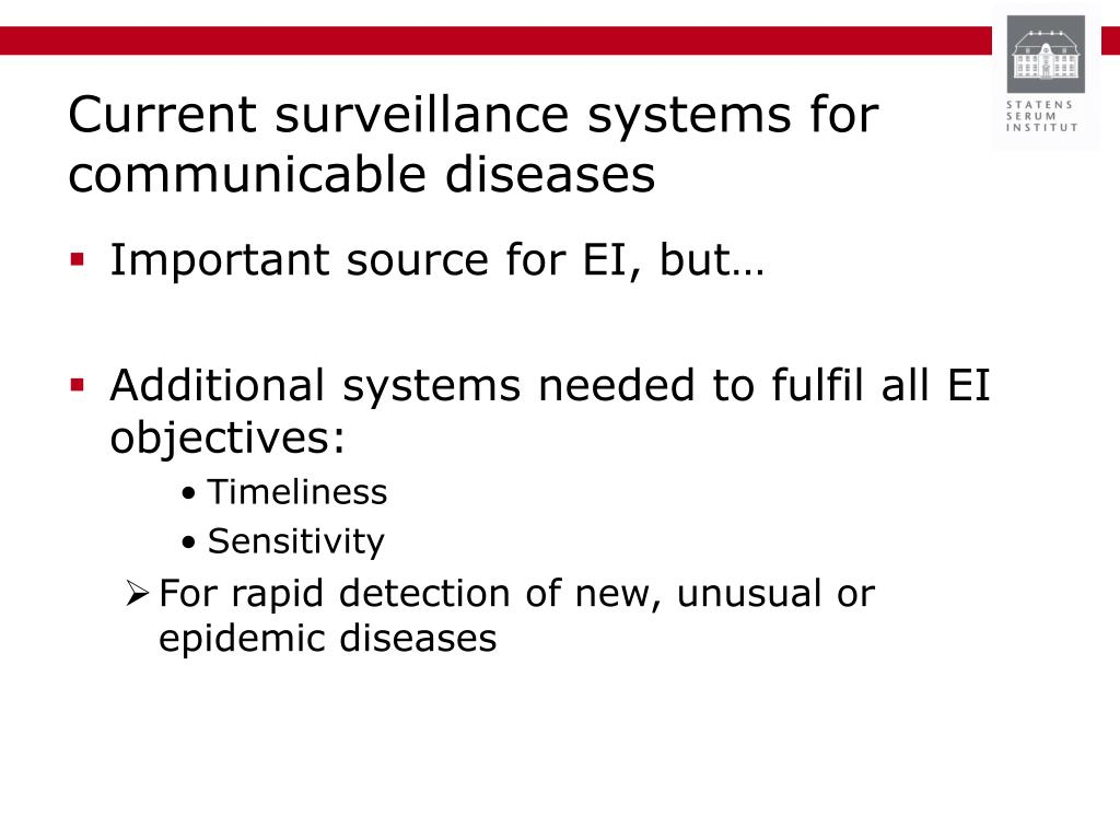 Current surveillance systems for communicable diseases