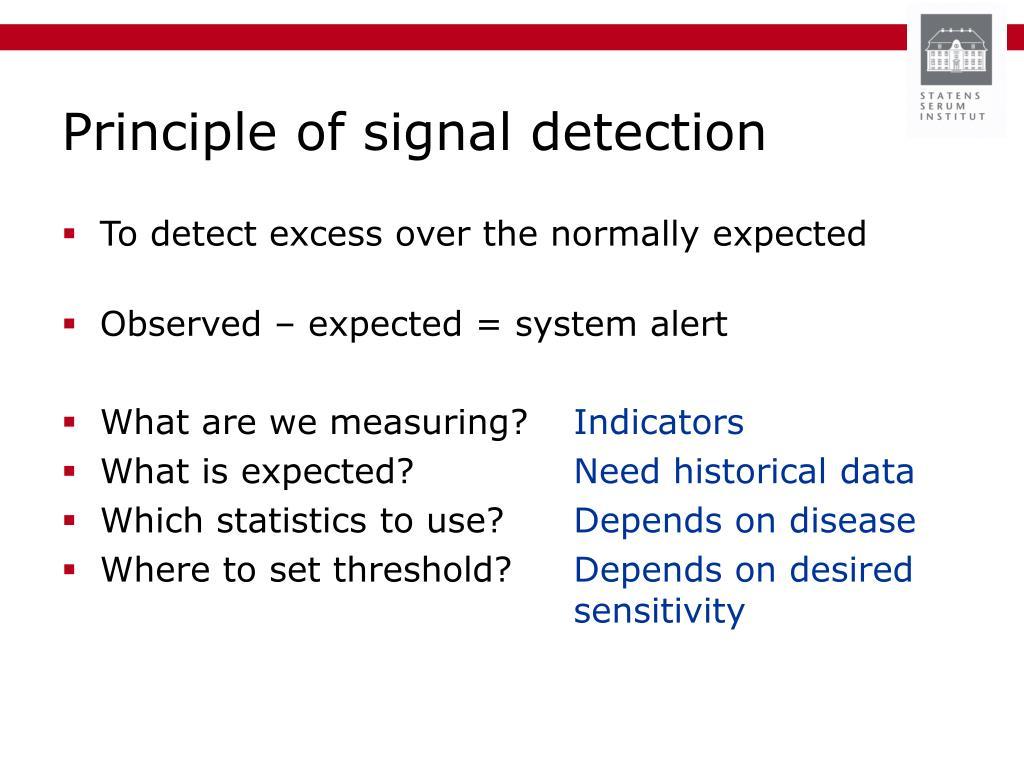 Principle of signal detection