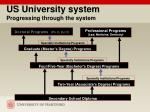 us university system progressing through the system