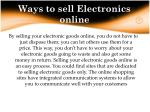 ways to sell electronics online