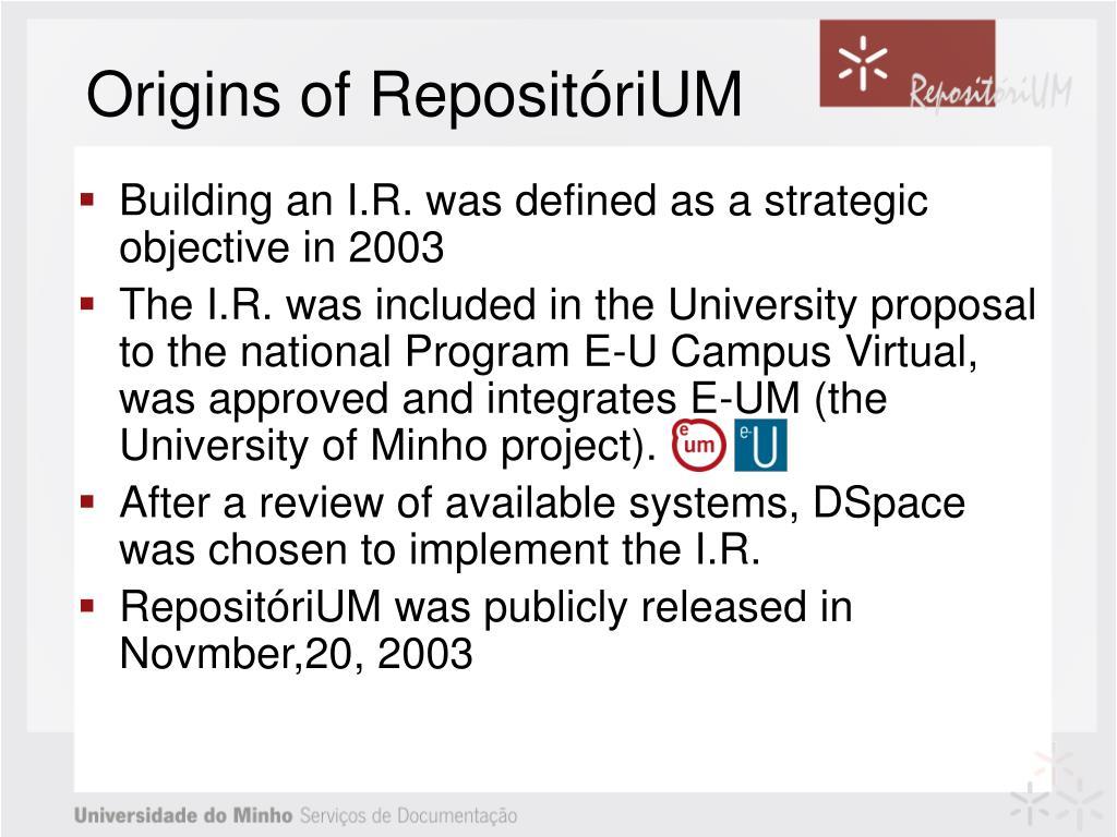 Origins of RepositóriUM