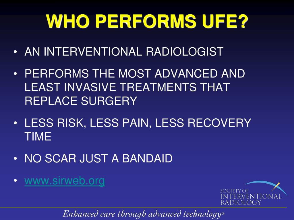 WHO PERFORMS UFE?
