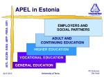 apel in estonia