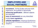 employers and social partners