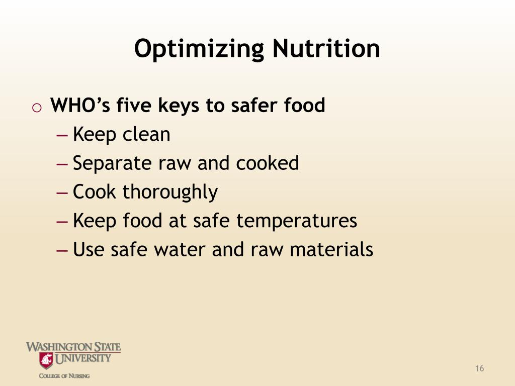 Optimizing Nutrition