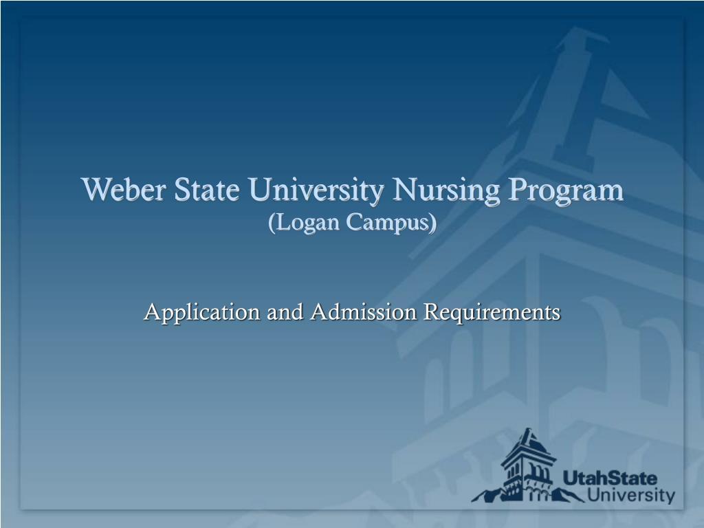 weber state university nursing program logan campus l.