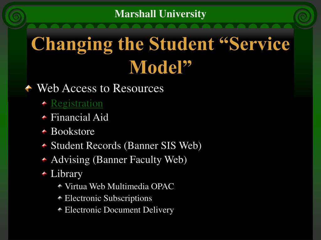 "Changing the Student ""Service Model"""