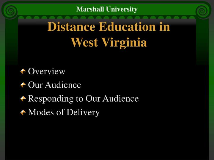 Distance education in west virginia