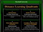 distance learning quadrants