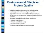 environmental effects on protein quality