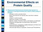 environmental effects on protein quality26