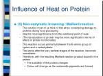 influence of heat on protein32