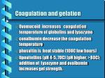 coagulation and gelation23