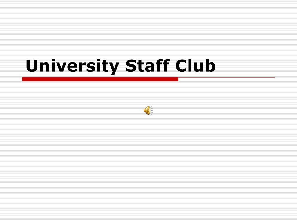 university staff club l.