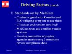 driving factors cont d22