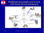 healthlink increasingly used to assist with chronic disease management