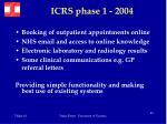 icrs phase 1 2004