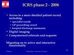 icrs phase 2 2006