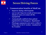 seven driving forces