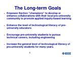 the long term goals