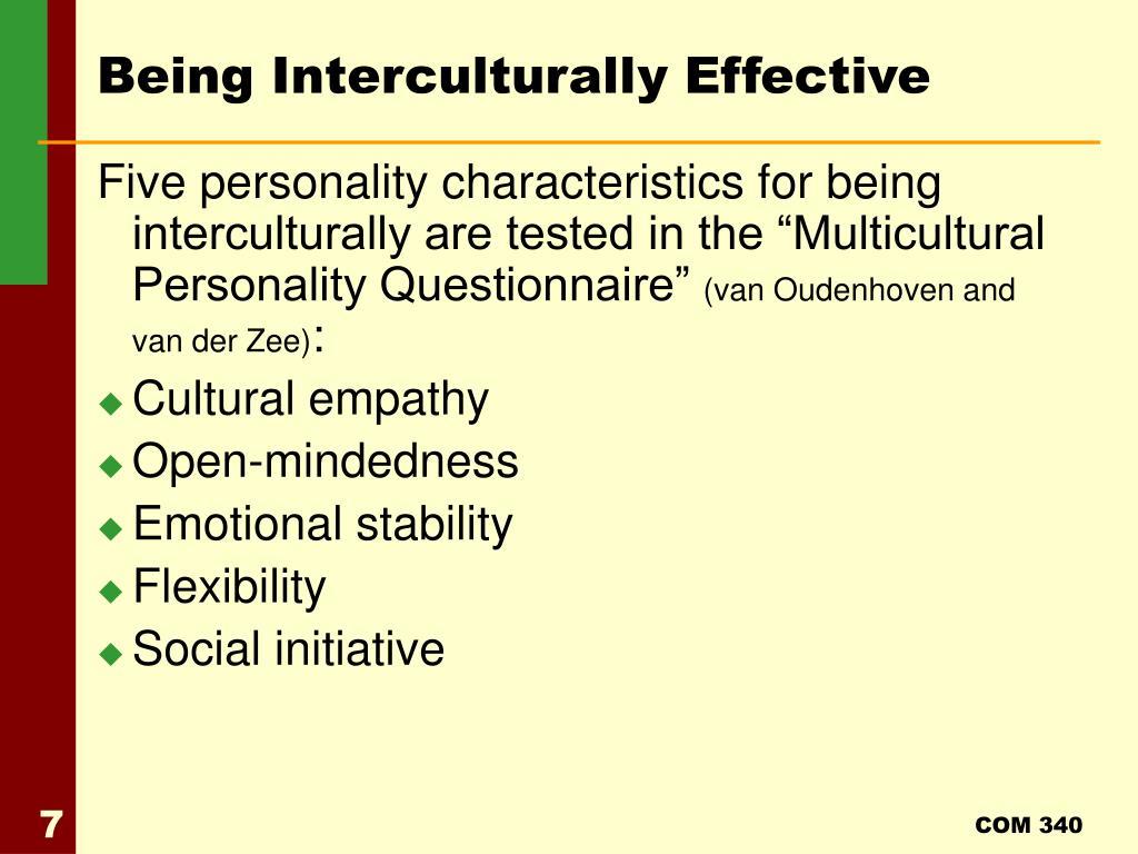 Being Interculturally Effective