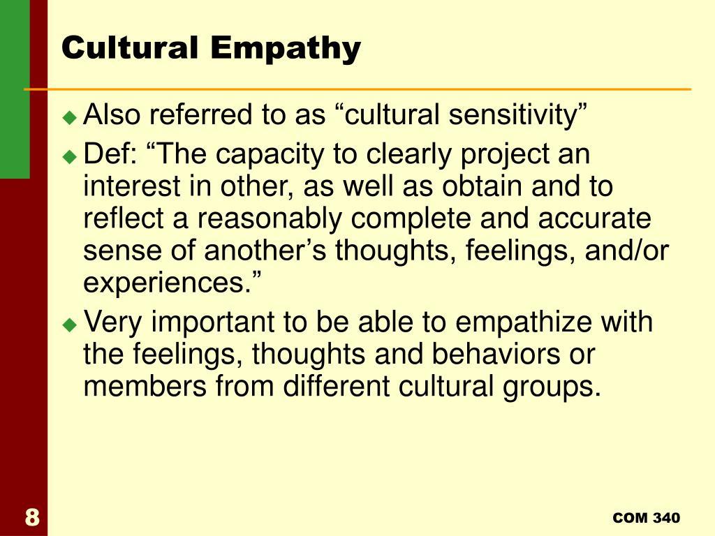 Cultural Empathy