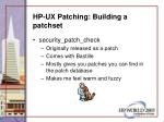 hp ux patching building a patchset54